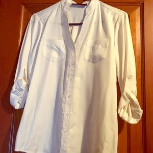 Limited cream v-neck blouse, size small
